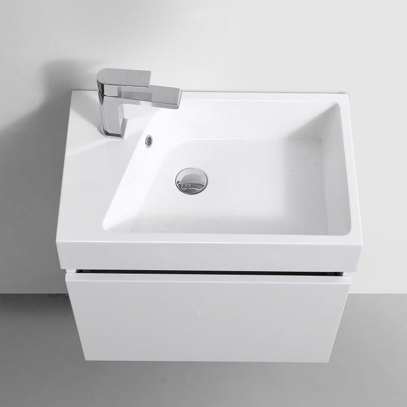 meuble salle de bain neo blanc faible profondeur de 38 cm