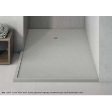 receveur de douche neo texture lisse bianco 76 80x111 120cm hidrobox