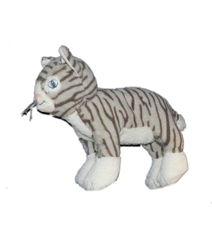 peluche doudou tigre chat ikea gosig katt gris blanc 30 cm chez vous des demain