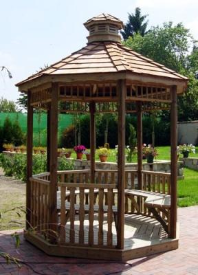 Aménagez votre kiosque de jardin en bois | Vente d\'Abris Jardin en Bois
