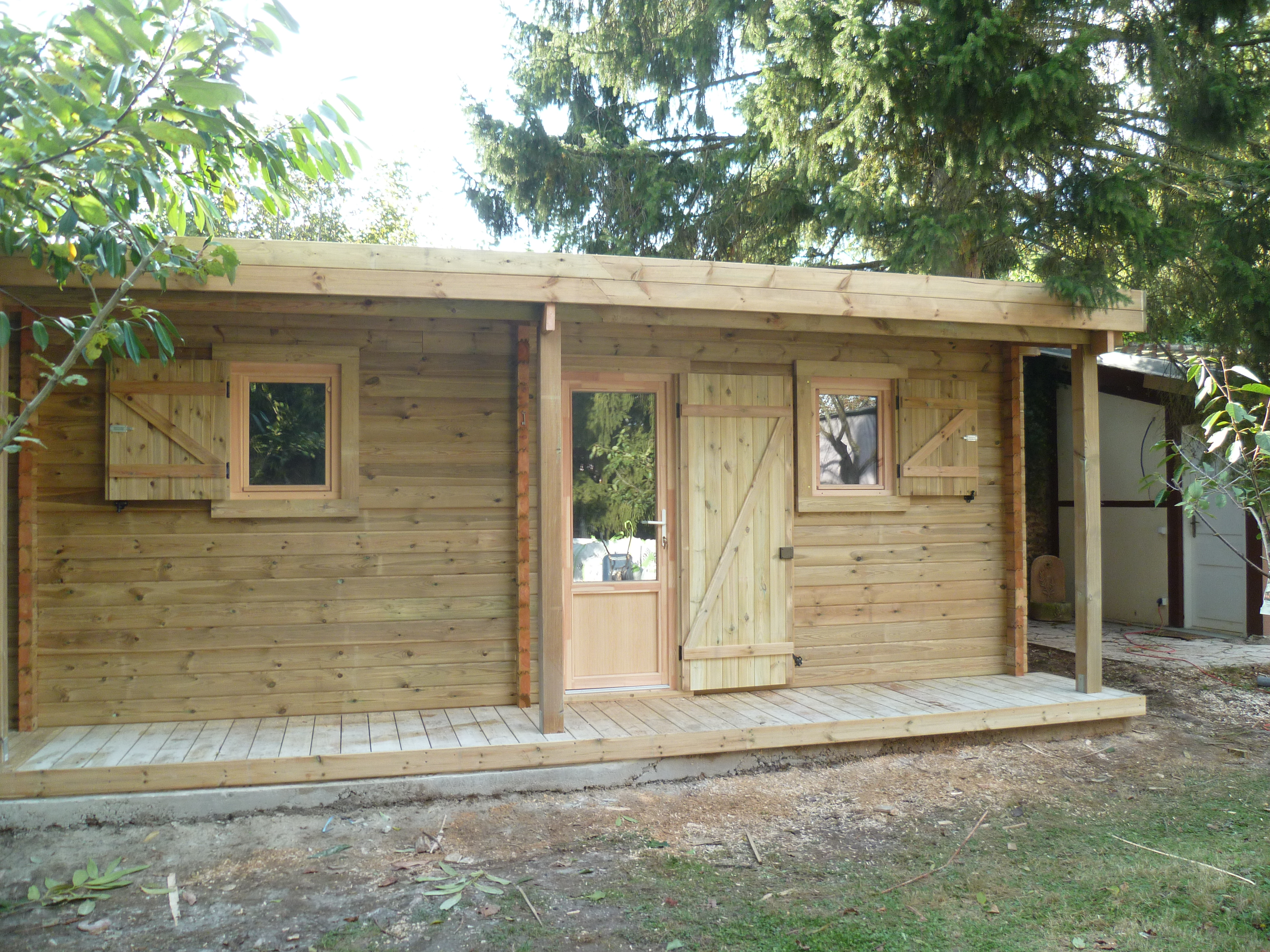 abri jardin bois haut de gamme chalet