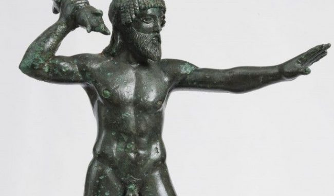 Ειδώλιο Δία Κεραύνιου. Ο θεός του ουρανού και των καιρικών φαινομένων κρατά το κατεξοχήν σύμβολό του, τον κεραυνό. 470-460 π.Χ. © Μουσείο Ακρόπολης ...  Διαβάστε όλο το άρθρο: http://www.mixanitouxronou.gr/dodoni-to-mantio-opou-i-pisti-epernan-chrismous-apo-to-throisma-ton-fillon-tis-velanidias-to-archeotero-mantio-tis-elladas-chtistike-meta-apo-ipodixi-enos-mavrou-peristeriou-simantiki-ekthesi-sto/