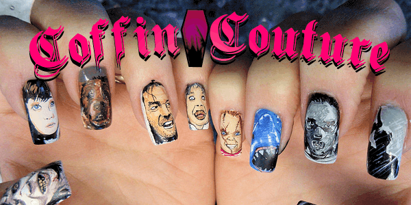 Coffin Couture DIY Horror Movie Themed Nail Art