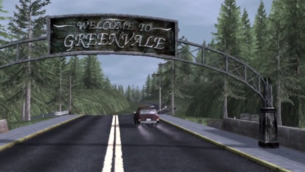 WELCOME TO GREENVALE sign.