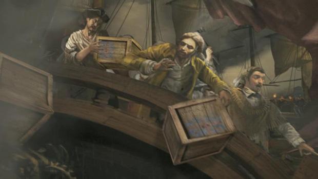 An Assassins Creed 3 Boston Tea Party diorama