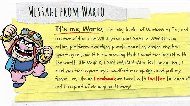 Nintendo Apes Kickstarter With Warios Crowdfarter
