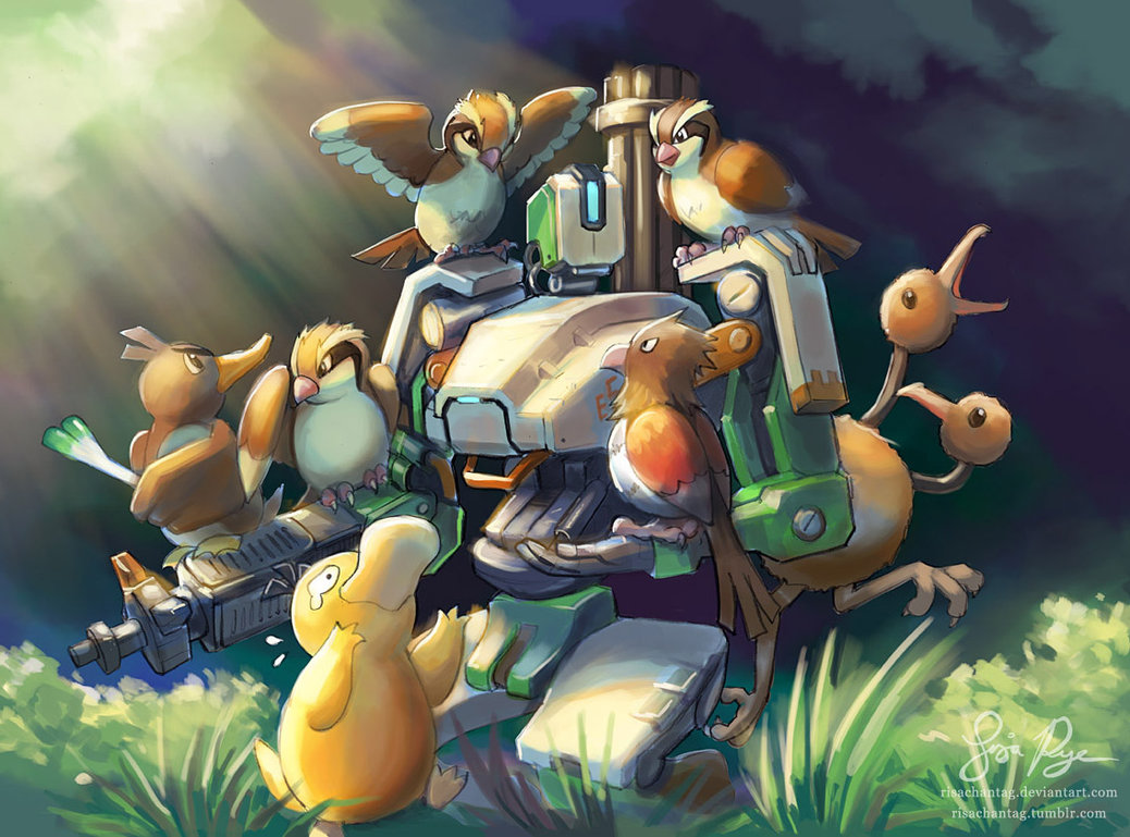 Cute Anime Wallpapers That You May Know Overwatch And Pokemon Mash Up Better Than You Might Think