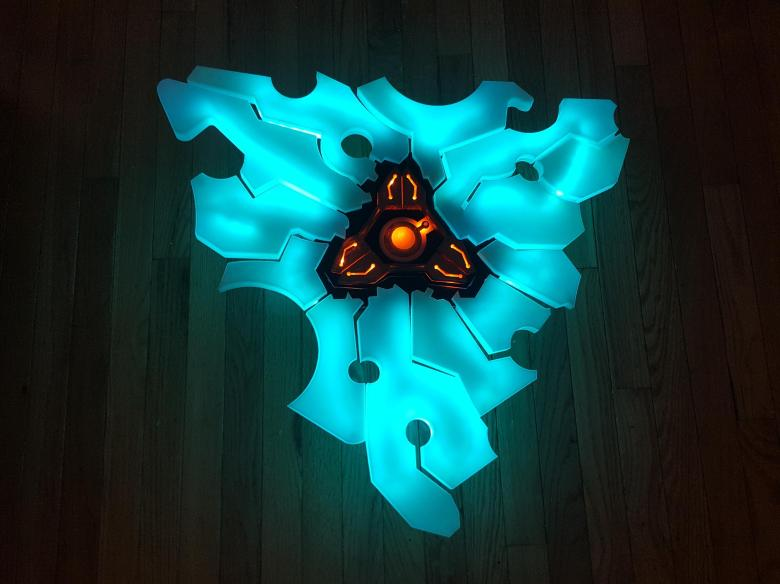 Sure, if I had the hardware I'd 3D print this Zelda: Breath of the Wild Guardian Shield   PerezStart