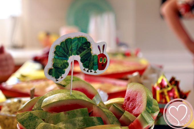 Very Hungry Caterpillar Party, party food, very hungry caterpillar party ideas, DIY party decor