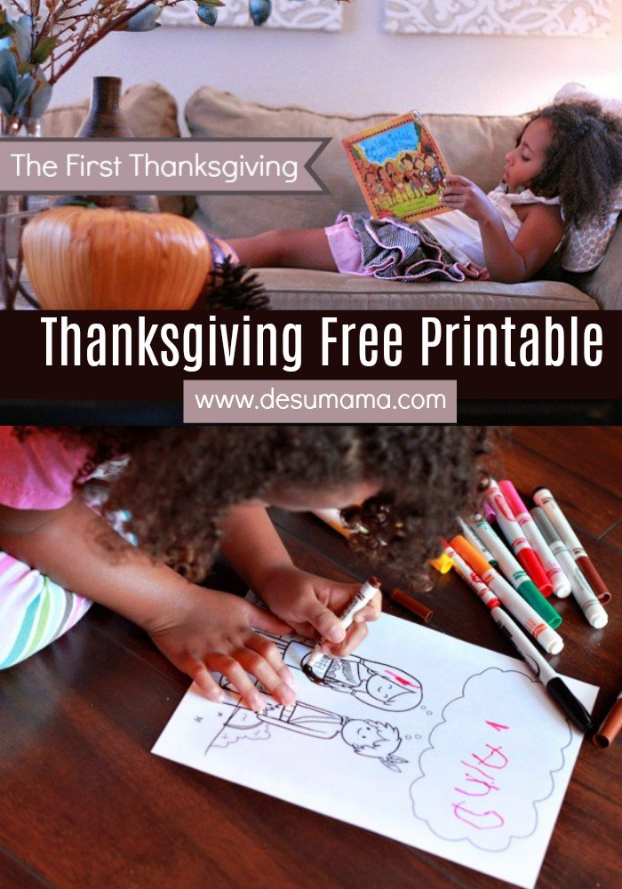 first thanksgiving free printable wamponoag
