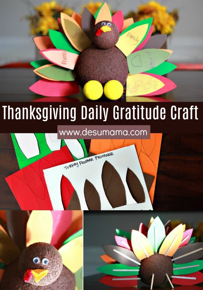 thanksgiving daily gratitude craft for kids