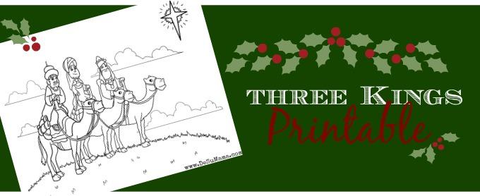 Three wise men,three kings printable, tres reyes mago, meaning of christmas, free christmas printable, preschool christmas printable
