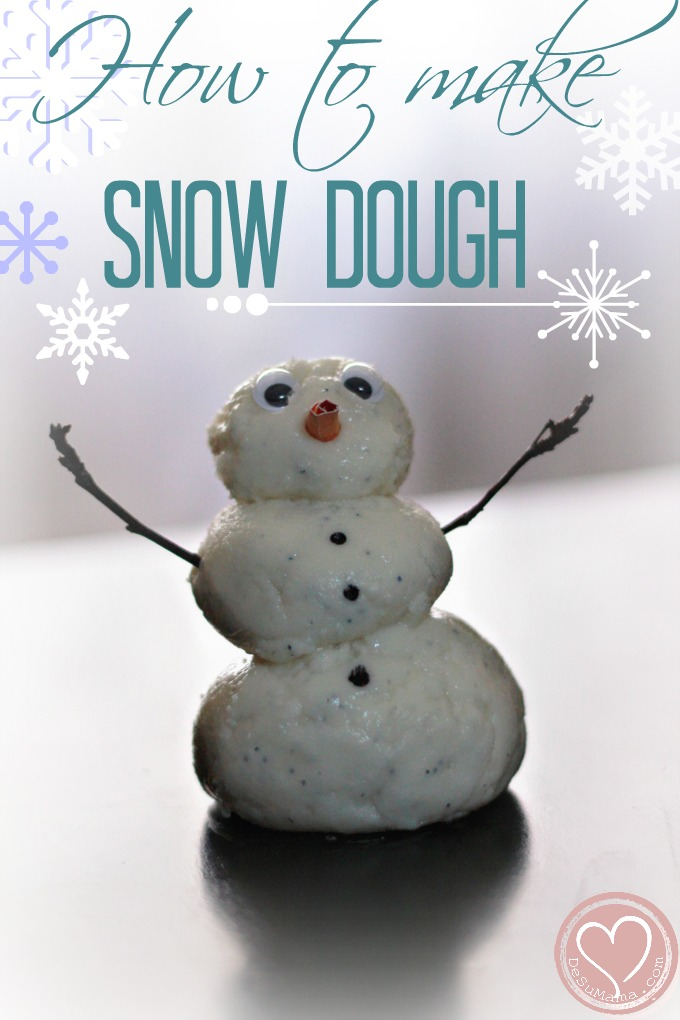 how to make snow dough, snow dough, indoor winter activities, toddler activities, multiracail children