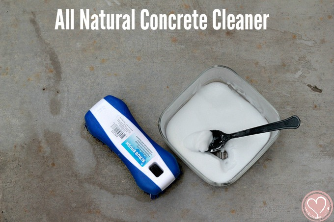 All Natural Concrete Cleaner To Remove Patio Stains