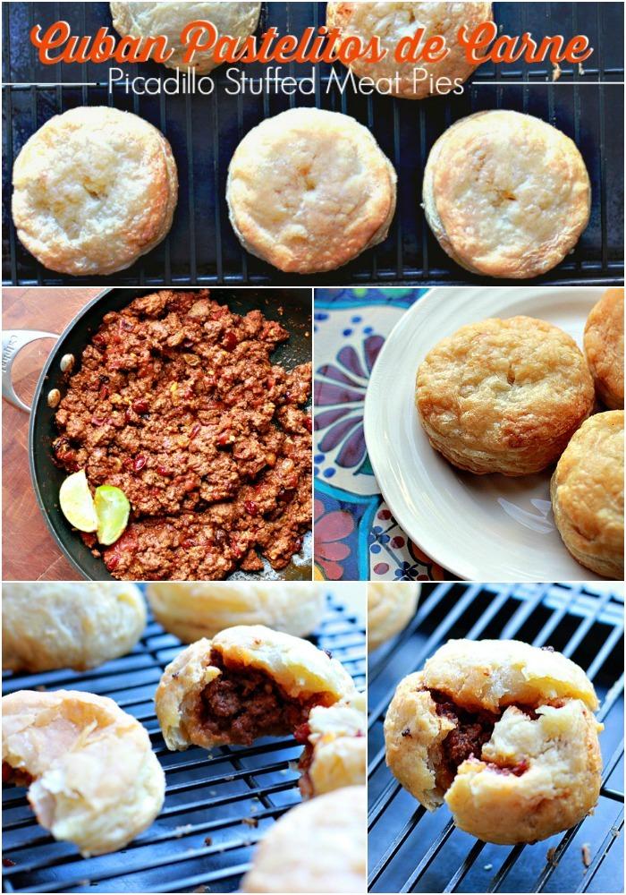 Cuban Recipes of Pastelitos de Carne or Cuban Picadillo Stuffed Meat Pies