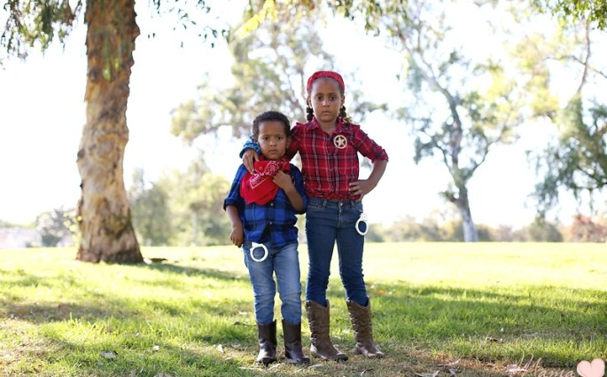 DIY Halloween Costume for Siblings: Cowboy and Cowgirl