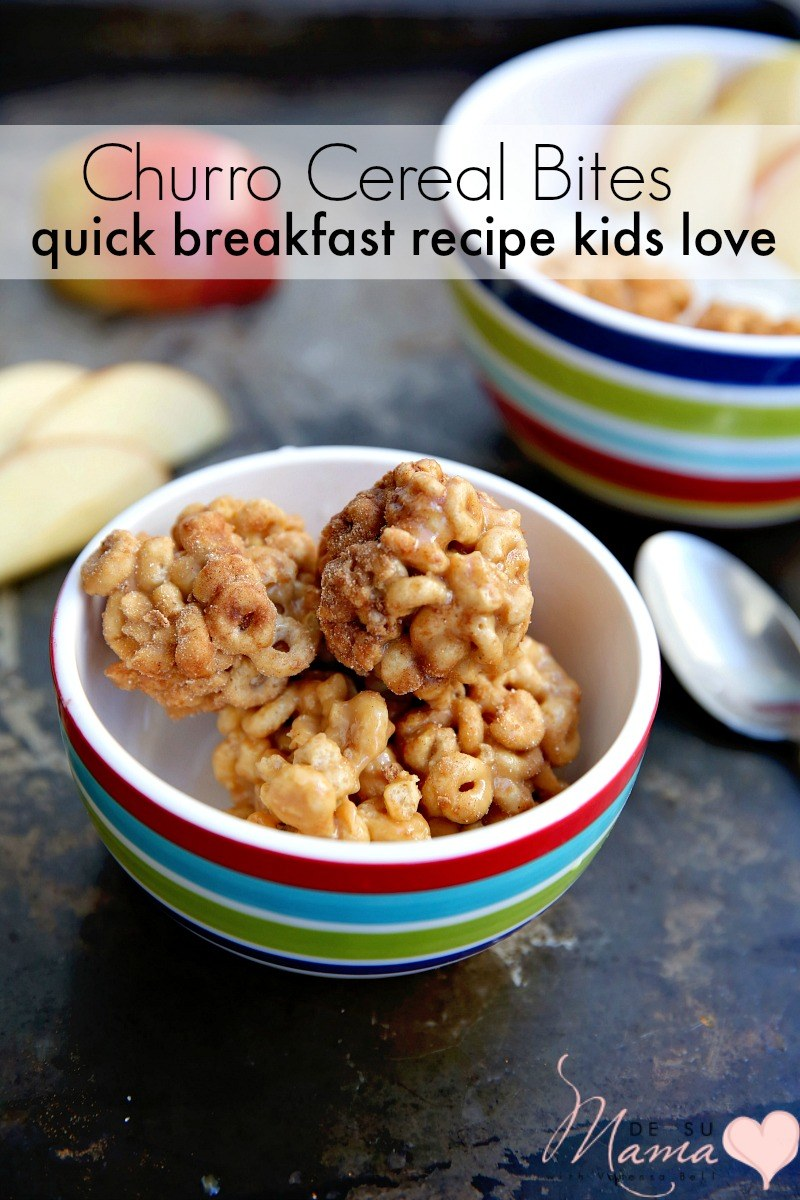 Churro Cereal Bites Quick Breakfast Recipe My Kids Love