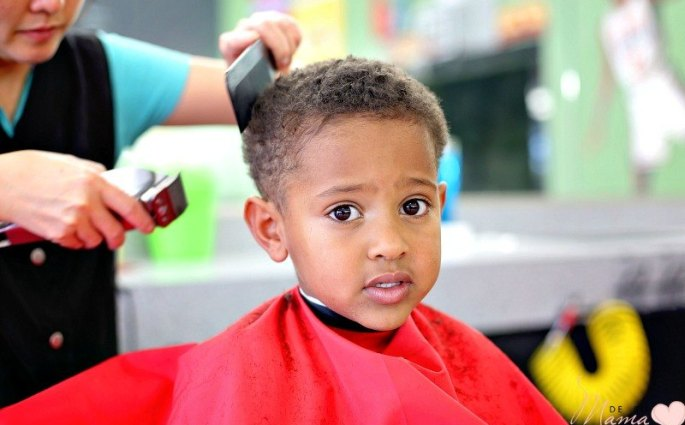 Biracial Boy Curly Haircut: Baby's First Buzz Cut