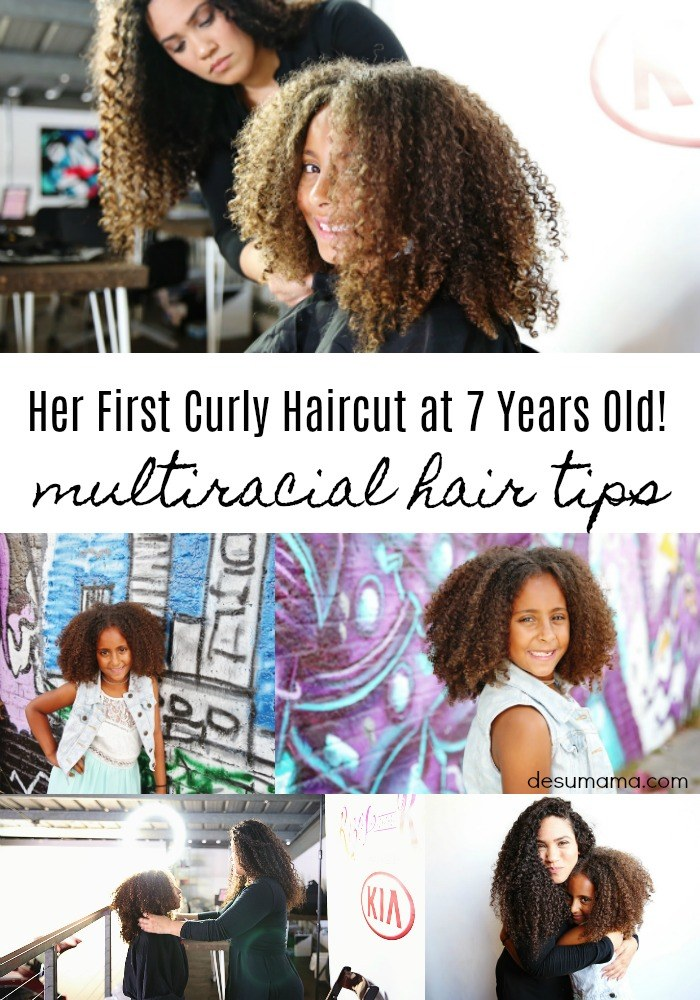 biracial mixed curly hair tips and first haircut