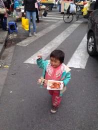 chinesisches Mädchen in Shanghai