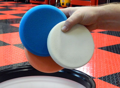 Clean polish pads