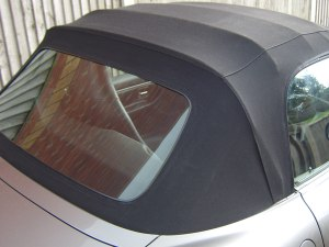 Polishing rear softtop window