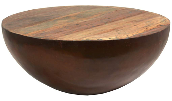 Farmhouse Industrial Style Reclaimed Wood Coffee Table - Details Full Service Interiors - Western MA Interior Decorating