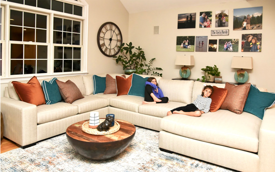 Family Friendly - Kid Proof - Modern - Family Room - Details Full Service Interior Design - Interior Design in Massachusetts