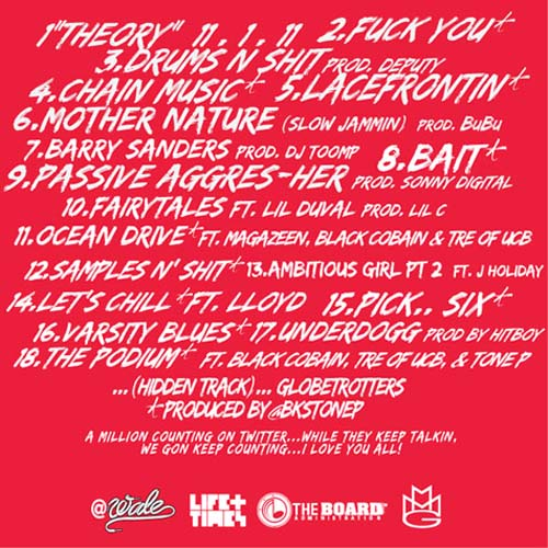 Wale The Eleven One Eleven Theory Mixtape Tracklist