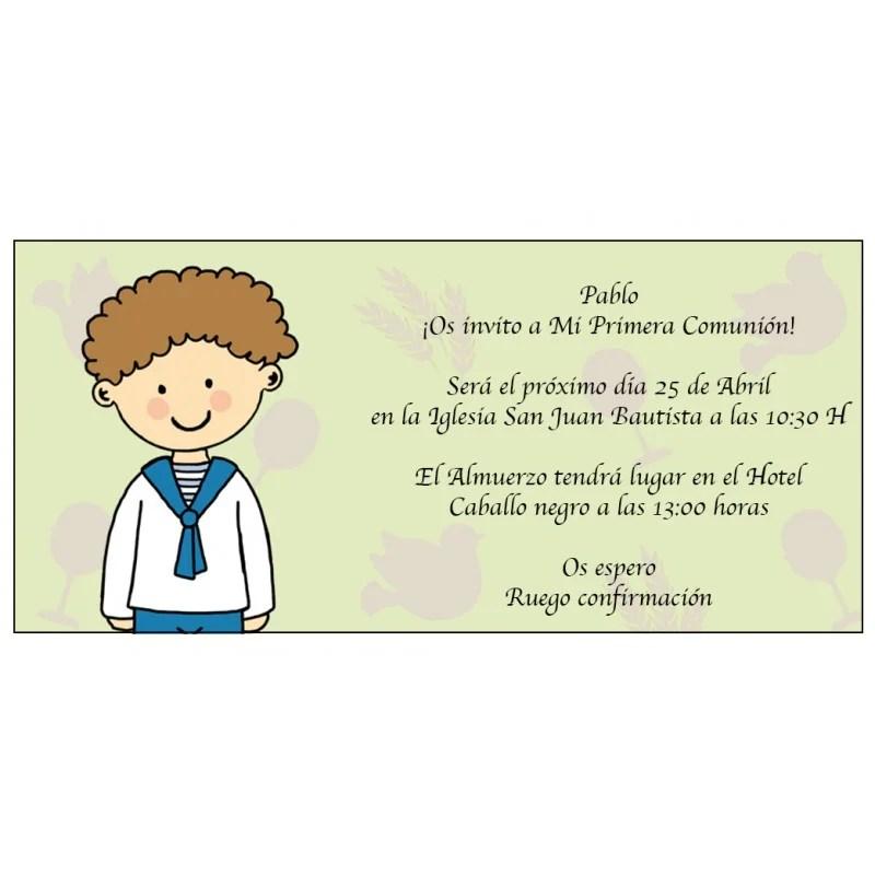 carte invitation communion moderne