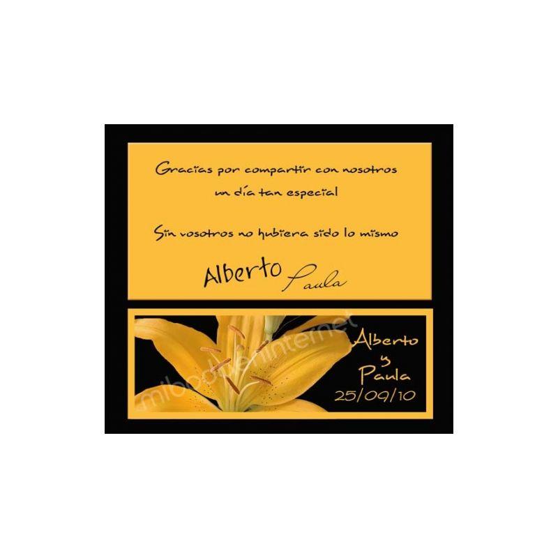 Tarjeta de agradecimiento Boda - B640113