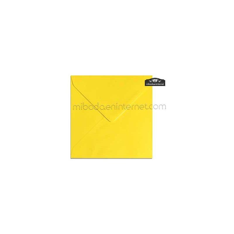 Sobre Cuadrado 15,5 Color Amarillo - SWQC36