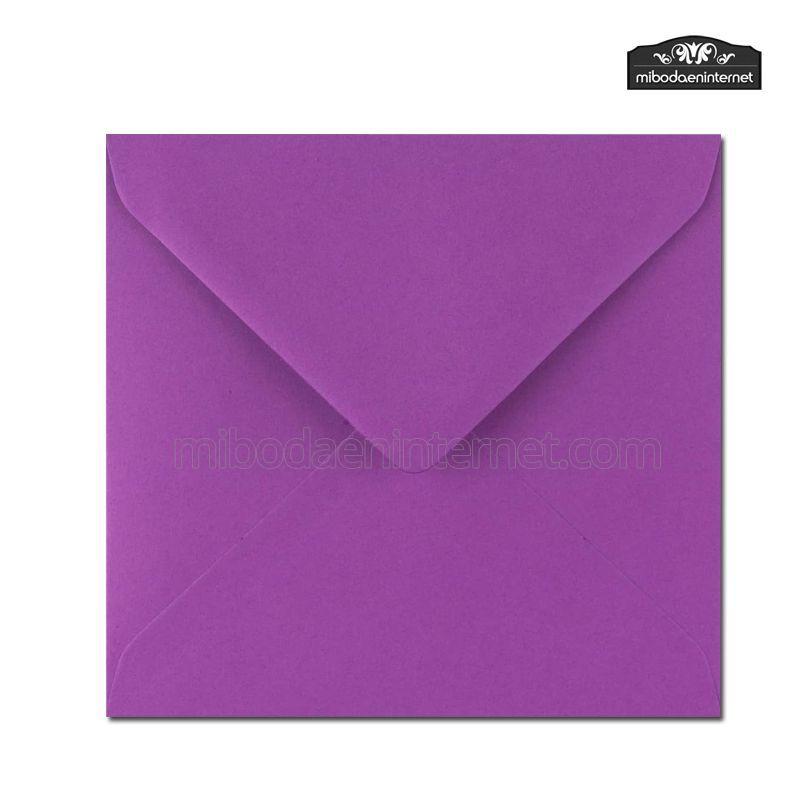 Sobre Cuadrado 15,5 Color Púrpura - SWQC23