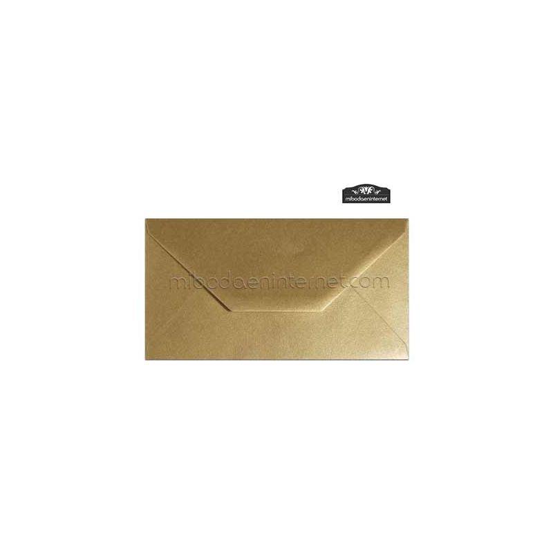 Sobre Americano Color Metalizado Oro - SWAC04