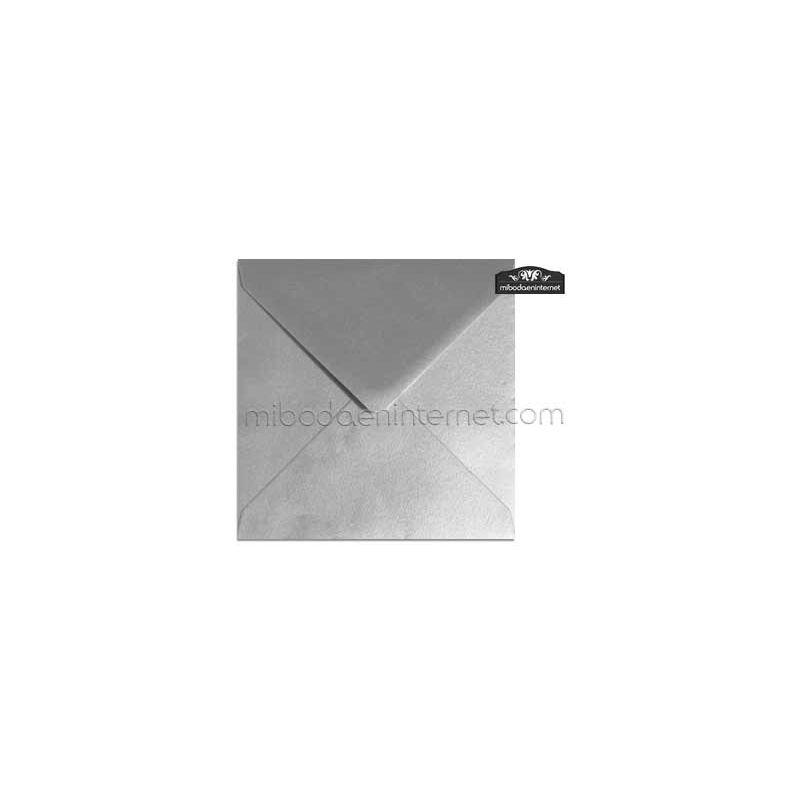 Sobre Cuadrado 15,5 Color Metalizado Plata - SWQC05
