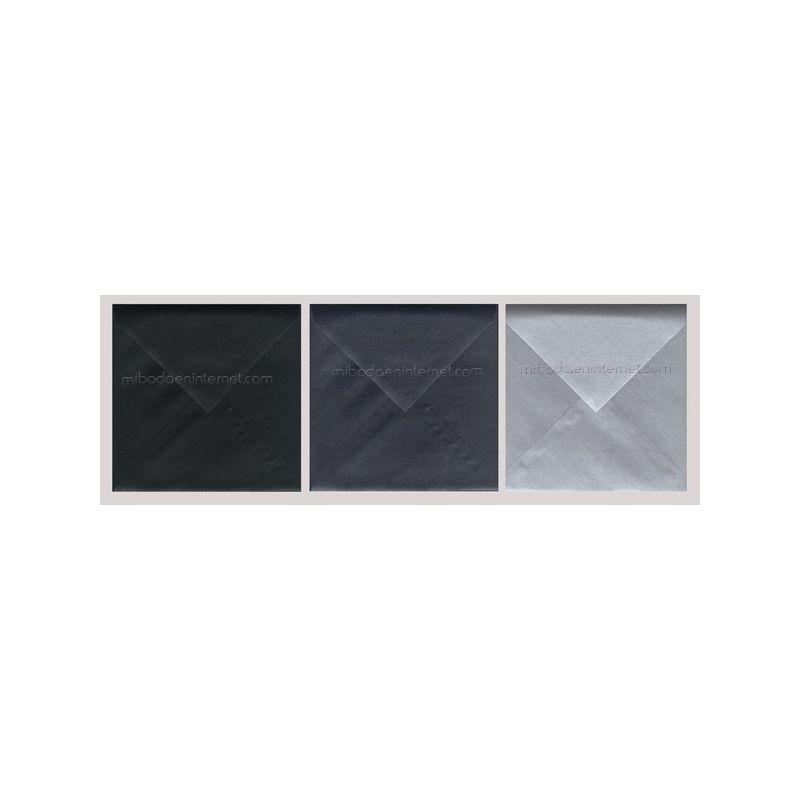 Sobre 17x17 Metalizado Antracita