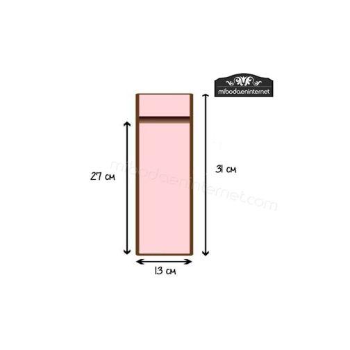 Bolsa Organza 13x31cm BLANCA