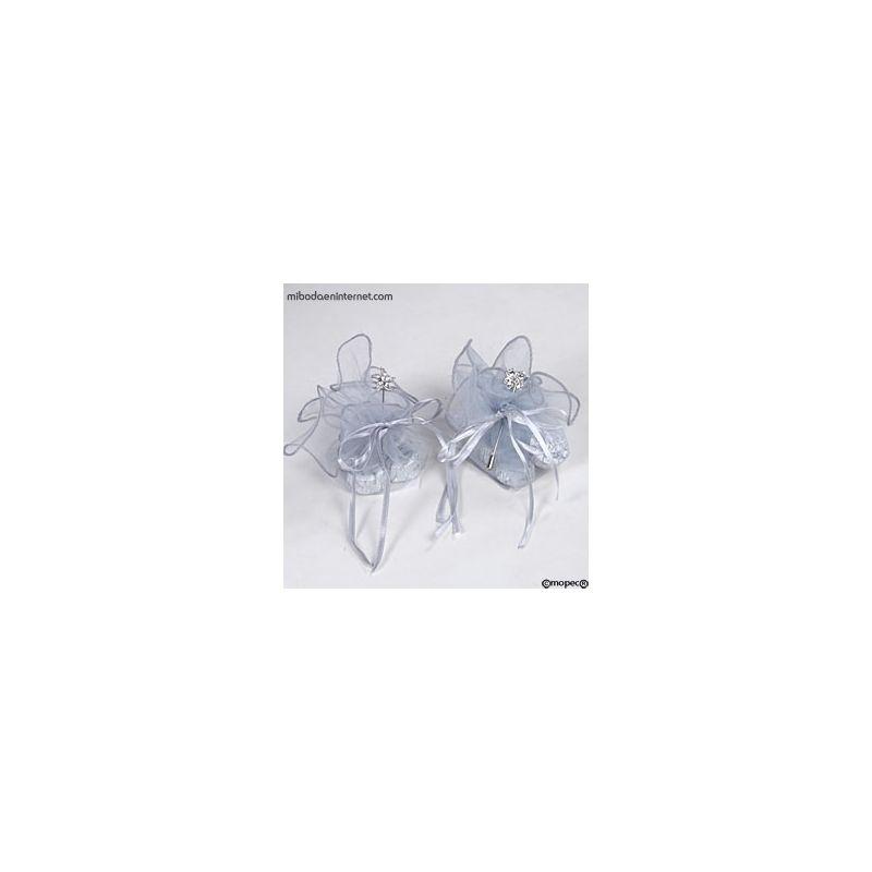 Alfiler metálico flor ribeteada