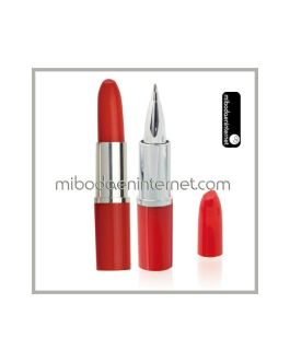 Boligrafo pintalabios color rojo