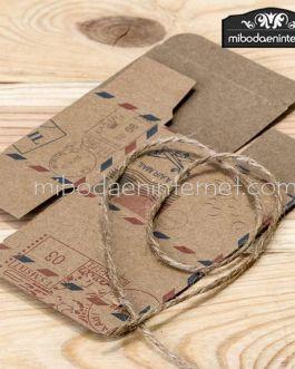 Caja Air Mail con cordón rústico