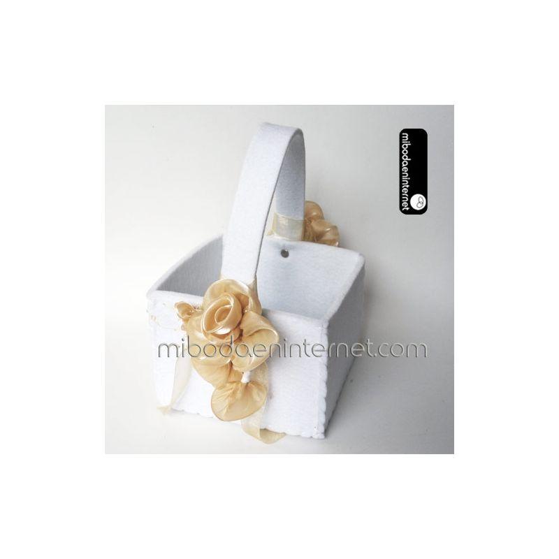 Bouquet Flores Rosa beige 14 cm