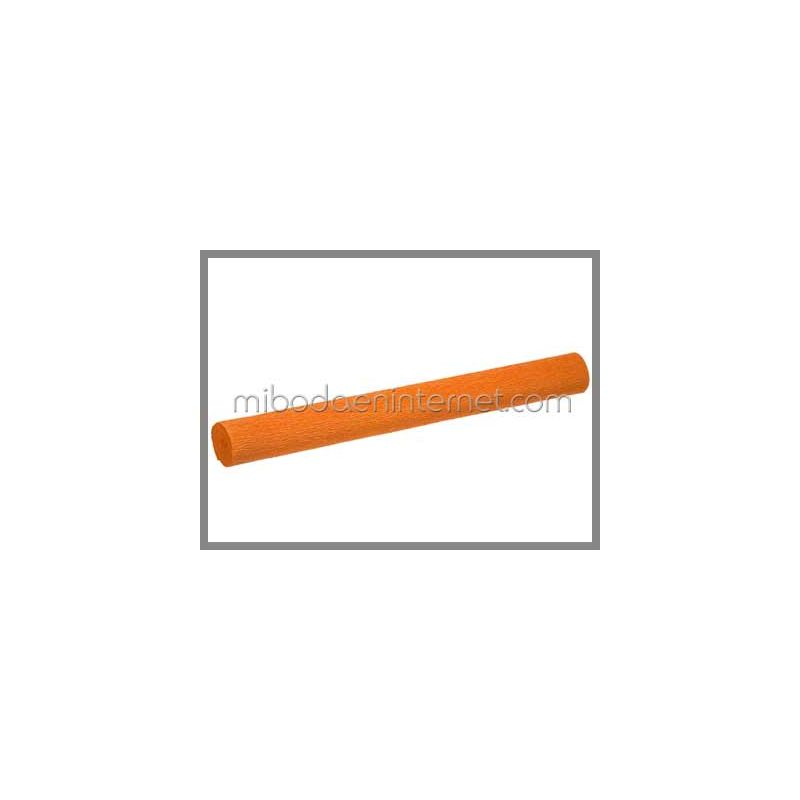 Rollo Papel Crepé Naranja 50cms x 2,5 mts