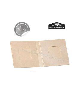 Pack 25 ud Caja 2 chocolatinas forma libro metalizada beige  7x7x1