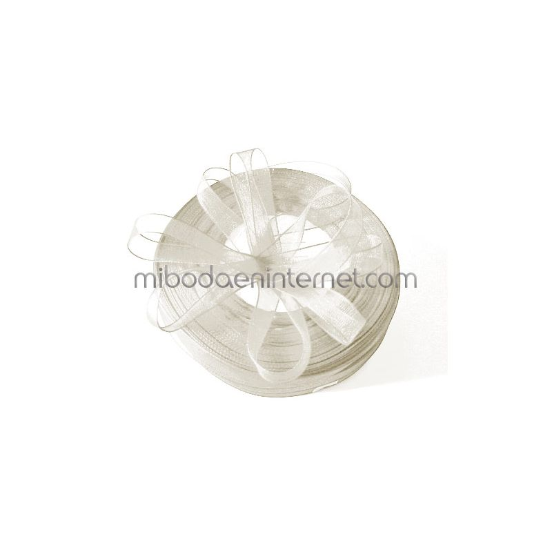 Cinta Organza Blanca 10 mm - Metro