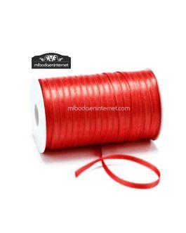 Cinta Raso Rojo 3mm – Metro