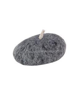 Vela con forma de piedra