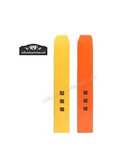 Pack 25 Cajas Alta 3 ventanas color amarillo y naranja