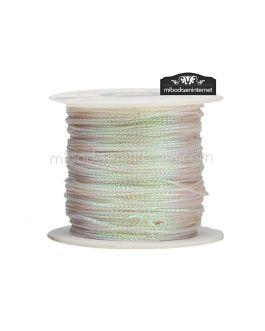 Cordón Metalizado Nácar 1 mm – Rollo 100 mts