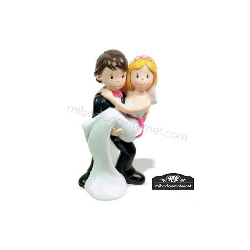 Figura Pastel Novios Acaramelados 15 cms