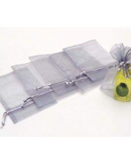 Bolsa Organza 13,5×16,5  PLATA Cola Ratón